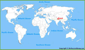Map Of Nepal And China by Nepal Location On The World Map