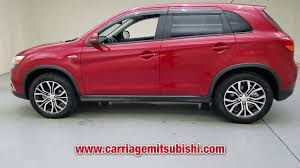 mitsubishi outlander sport 2016 red used 2016 mitsubishi outlander sport at carriage supercenter