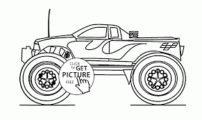 monster car with antenna coloring page for kids transportation