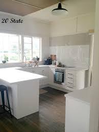 20 state white flatpack u shaped kitchen with island just add