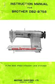 brother sewing machine manuals instruction and repair manuals