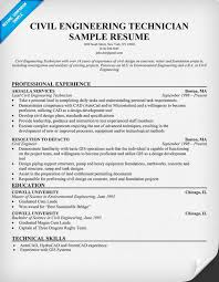 What To Put On Your Resume Civil Engineering Technician Resume Resumecompanion Com Resume