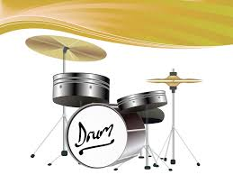 drum kit powerpoint template ppt backgrounds music templates
