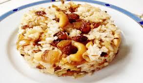 poudre de riz cuisine riz aux raisins secs