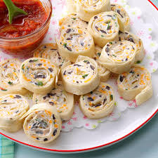 appetizer tortilla pinwheels recipe taste of home