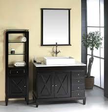 Shallow Bathroom Vanities Bathroom Elegant Black Wooden Bathroom Cabinet And Vanities