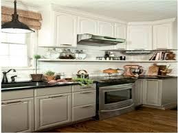 kitchen gray upper cabinets white lower cabinets gray kitchen