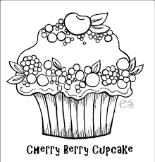birthday cake coloring pages cupcake simple free printable kids