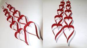 paper craft for home decoration diy valentine decoration craft paper heart hanging for diy room