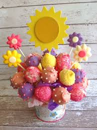 get well soon cake pops this could be used for any occasion if you change the flowers