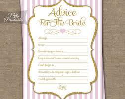 bridal advice cards bridal shower advice cards black gold bridal shower
