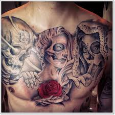 40 bloodcurdling day of the dead tattoos chest