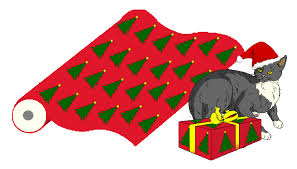 cat christmas wrapping paper cats christmas and wrapping presents