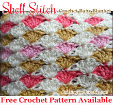 pattern of crochet stitches easy crochet shell stitch baby blanket free pattern knitting and