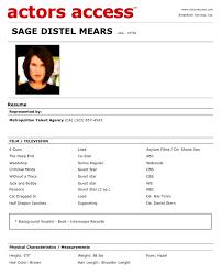 Sample Resume For Actors by Critiques Your Resumés