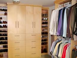 beauteous walk in closet space featuring open organize system with