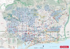 Nyc Bike Map Barcelona Maps Spain Maps Of Barcelona City