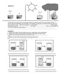 states of matter worksheet