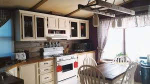 how to update mobile home kitchen cabinets mobile home gets rustic farmhouse kitchen makeover mobile