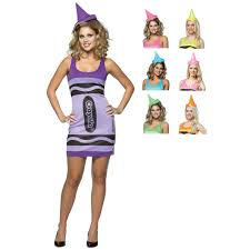 crayon halloween costumes ladies licensed crayola crayon tank dress fancy dress party