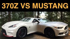nissan 370z nismo modded nissan 370z nismo vs ford mustang gt 6 key differences youtube
