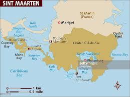 St Maarten Map Map Of St Maarten Stock Illustration Getty Images