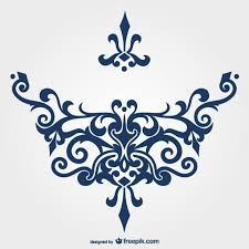 blue ornament vector free