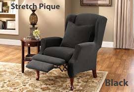 Stretch Wing Chair Slipcover Cushion Wing Chair Cover In Stretch Pique