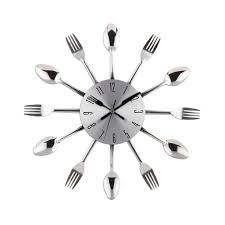 kitchen wall clocks modern silverware utensils kitchen wall clock