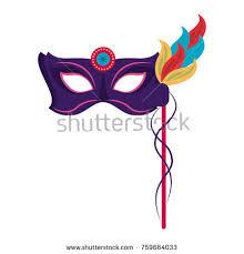 pink mardi gras mask mardi gras mask stock vector 759662539