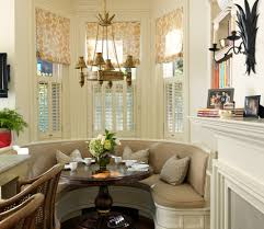 Bay Window Treatment Ideas by Breakfast Nook Window Treatment Ideas Dining Room Traditional With