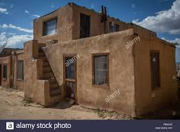 adobe houses sky city acoma pueblo new mexico stock photo