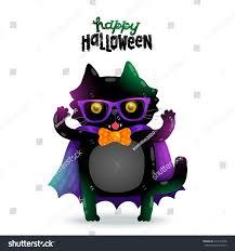 happy halloween cute pictures cute cartoon happy halloween cat vampire stock vector 216125548
