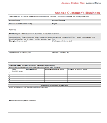 key account template strategic account plan template at four quadrant