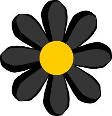 black flower black flower clip free vector 4vector