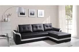 canapé d angle convertible noir canapé d angle convertible dumno noir et blanc angle droit