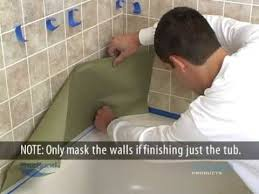 Bathroom Tile Refinishing by Bathtub And Tile Refinishing Youtube
