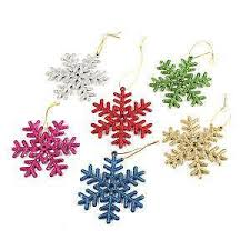 snowflake decorations snowflake christmas decorations ebay