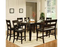 How Tall Is A Dining Room Table Steve Silver Victoria 8 Piece Counter Height Dining Set With Bench