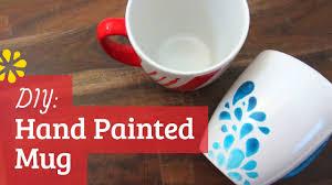 diy hand painted mug sea lemon youtube