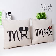mr and mrs pillow mr and mrs pillows cases mr mrs cushions cover throw pillow