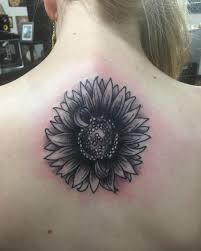 Tattoos For Middle Of Back 90 Black And White Sunflowers Design Ideas