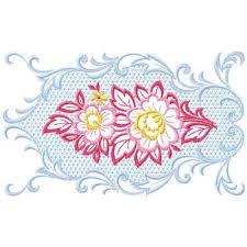 cross stitch floral border embroidery design annthegran