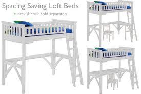 twin loft bed with desk kids loftbed espresso the futon shop