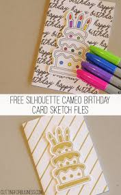 Card For Business Cards Free Diy Sharpie Birthday Card For Silhouette Cameo Cutting For