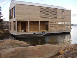 beautiful lake huron floating house by mos inhabitat green wish list for sure remarkable floating boathouse and sleeping