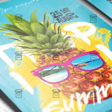 tropical summer u2013 premium flyer template instagram size flyer