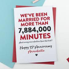 15 wedding anniversary wedding anniversary cards notonthehighstreet