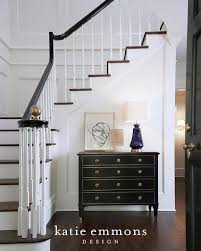 Banister Ball Gold And Black Chest With Blue Lamp On Staircase Wall