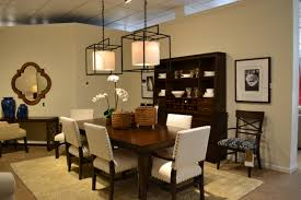 ethan allen tango dining collection shown in java finish with